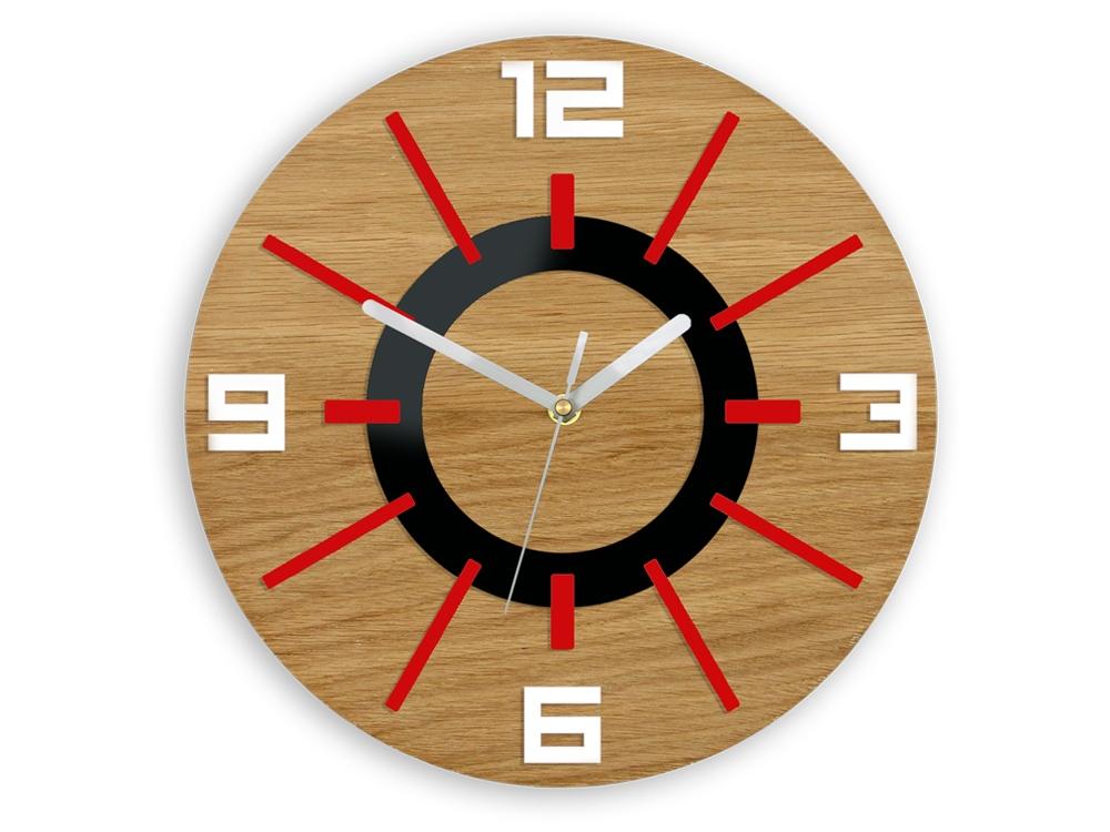 Mazur Nástěnné hodiny Alladyn Wood červeno-černé
