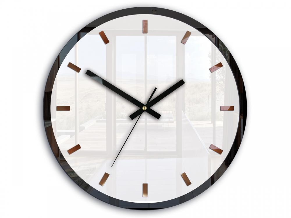 Mazur Nástěnné hodiny Rolo bílé