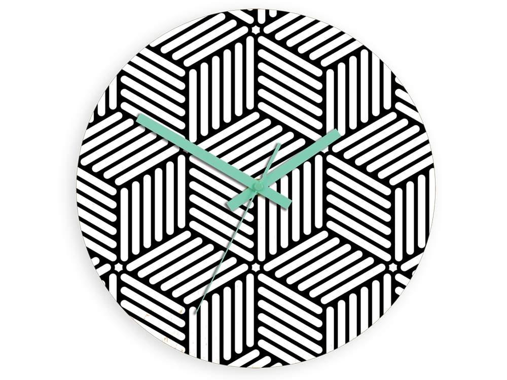Mazur Nástěnné hodiny Hektor černo-bílé