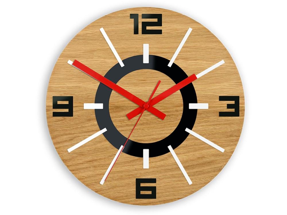 Mazur Nástěnné hodiny Alladyn Wood hnědo-červené